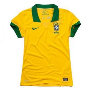 Camiseta Brasil de la Seleccion Primera 2013/2014 Mujer